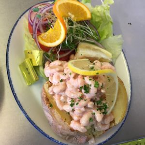 Sea Lane Cafe prawn jacket potato